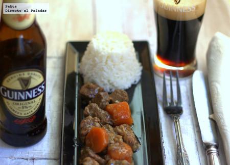 Estofado de ternera con cerveza Guinness en olla rápida
