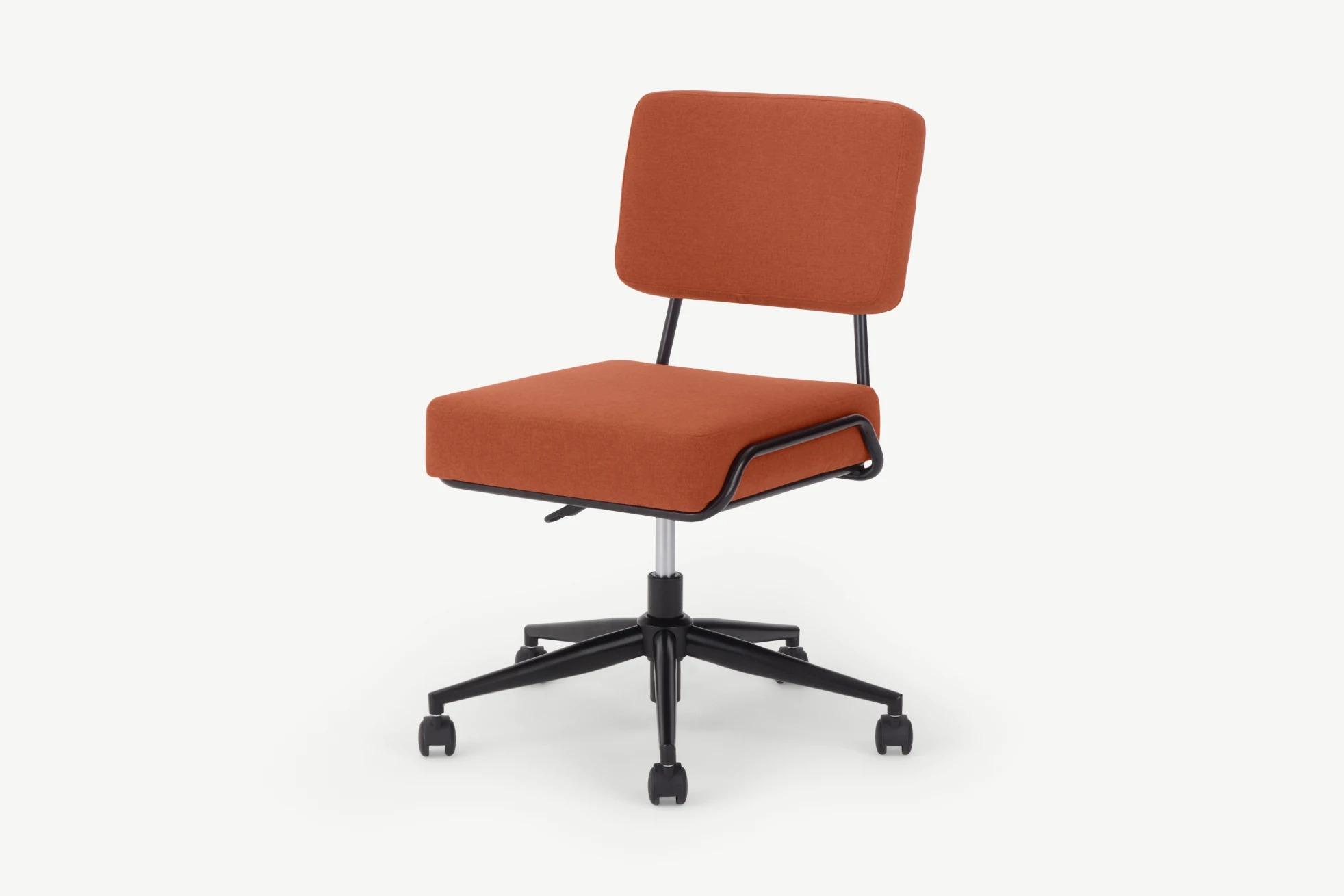 Silla de oficina Knox, naranja retro