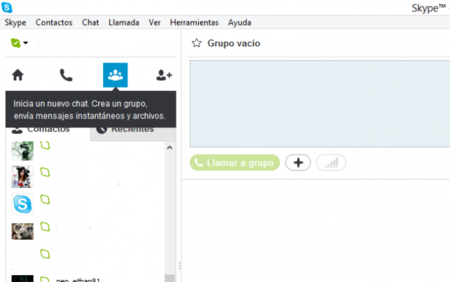 Crear videoconferencia con Skype