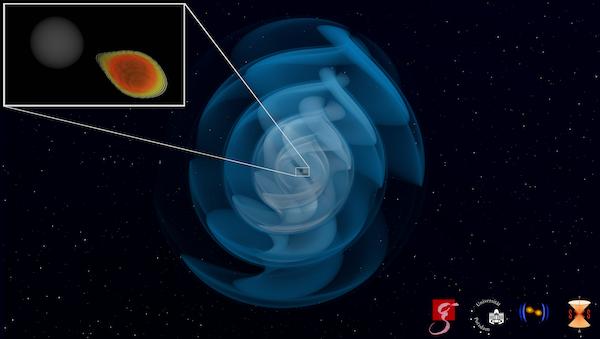 Qué pasa si un agujero negro se encuentra con una estrella de neutrones: un colosal ejercicio de matonismo que acabamos de detectar gracias a las ondas gravitacionales