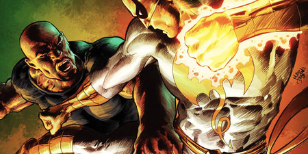 Iron Fist Vs Luke Cage Art By Mike Deodato