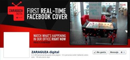 Una agencia diseña una foto de portada para Facebook que se va actualizando en tiempo real