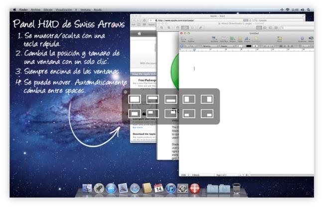 Swiss Arrows, controla la posición y tamaño de las ventanas de tus aplicaciones