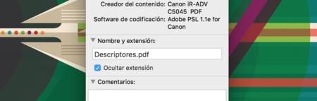 Extensiones en Finder