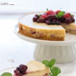 Tarta mágica de vainilla y fresas. Receta