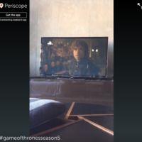 Periscope amenaza con banear a quienes retransmiten Juego de Tronos con la app (y los hay)