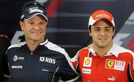 Felipe Massa recomienda a Rubens Barrichello que se retire de la Fórmula 1
