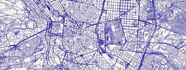 Esta web te permite obtener un vistoso mapa con las calles y carreteras de cualquier lugar para usar como quieras
