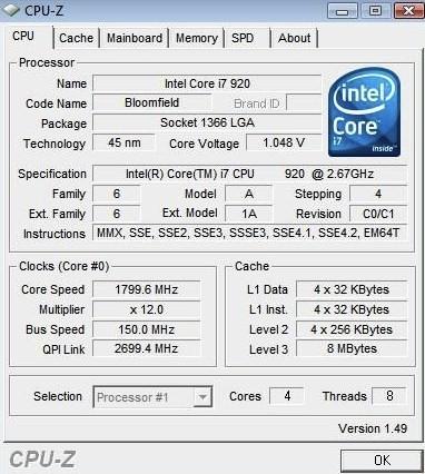CPU-Z Core i7