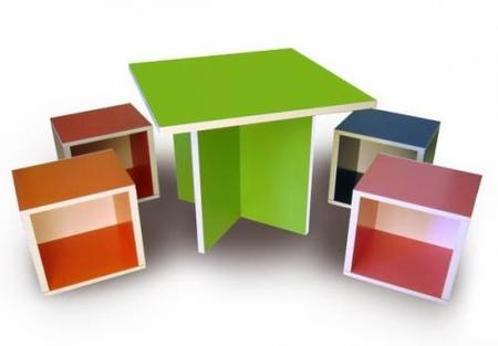 set modular de mesas y sillas way basics