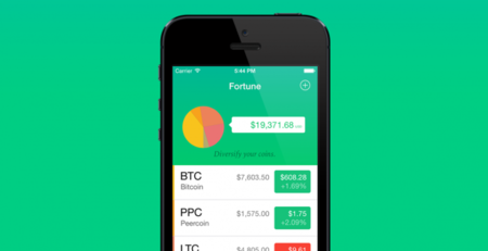 Fortune, controla el valor de tus criptomonedas desde el iPhone