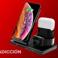Esta base de carga para el iPhone, los AirPods y el Apple Watch está en oferta flash hoy en Amazon: carga tus dispositivos cómodamente por menos de 20 euros