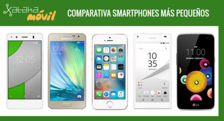 Comparativa iPhone SE con otros smartphones de pequeña pantalla
