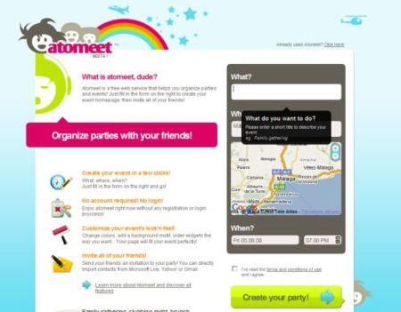 Atommeet, organizando eventos y gestionando invitados
