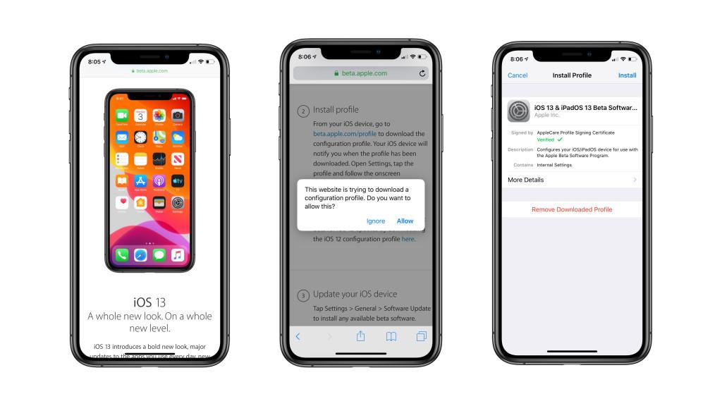 Apple lanza la 2.ª beta(programa) pública de iOS℗ 13 y de iPadOS