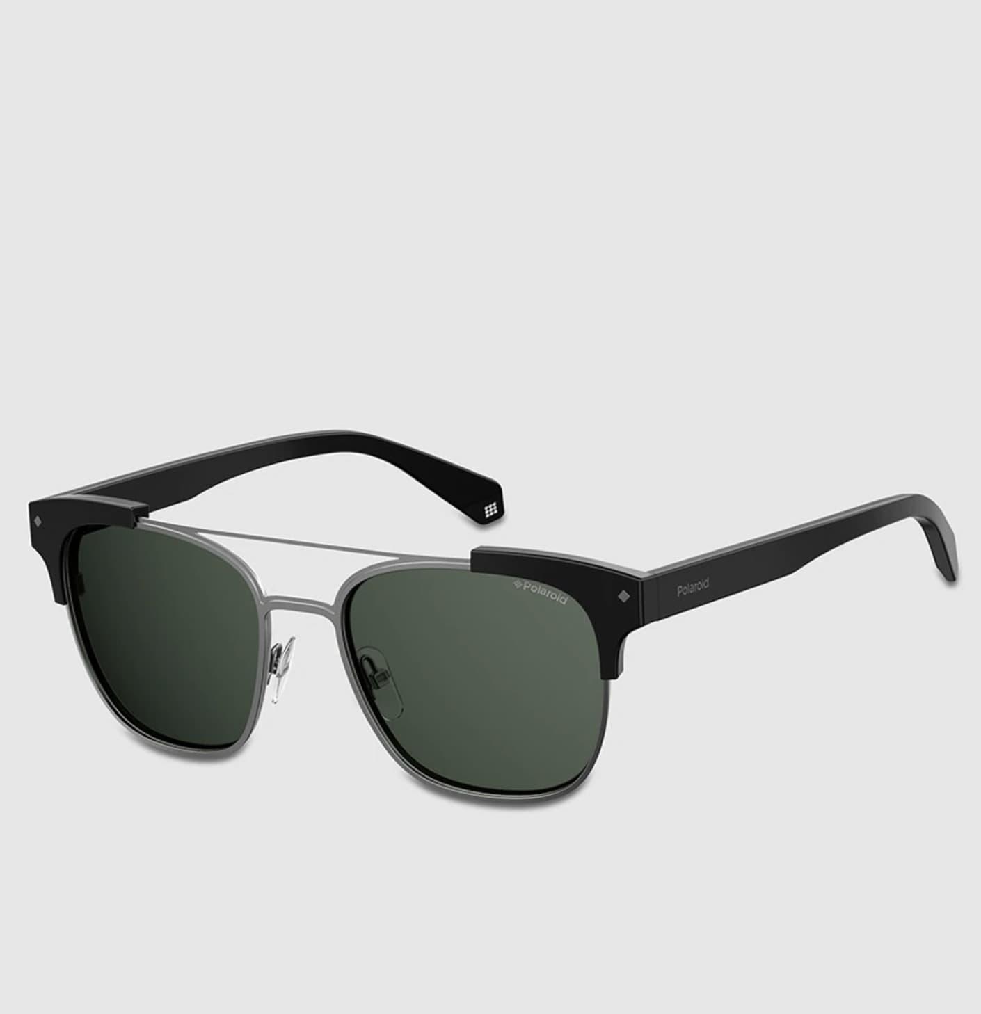 Gafas de sol Polaroid unisex en negro con montura cuadrada