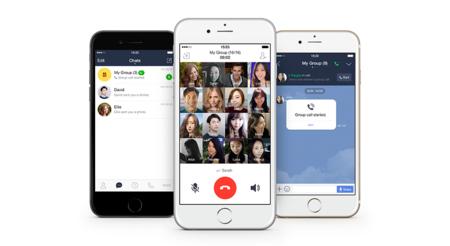 Line se actualiza con llamadas de voz grupales