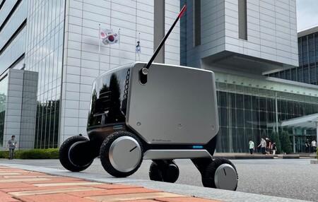 El nuevo robot de LG está preparado para repartir envíos tanto en interiores como en exteriores