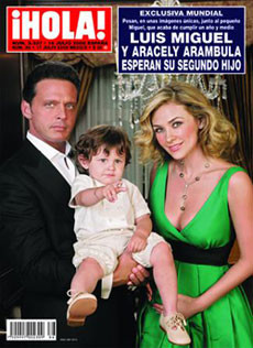 Luis Miguel espera su segundo hijo