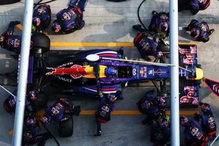 Pit stop de Sebastian Vettel