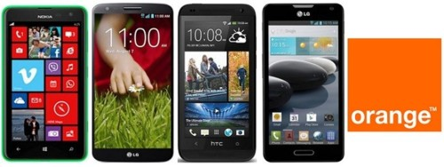 Precios Nokia Lumia 625, LG G2, LG Optimus F6 y HTC Desire 601 con Orange