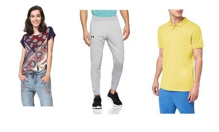 Chollos en tallas sueltas de pantalones, camisetas y polos de marcas como Desigual, Columbia, Under Armour y Jack & Jones en Amazon