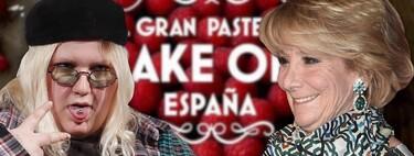 Esperanza Aguirre y Esty Quesada (Soy Una Pringada), concursantes oficiales de 'Celebrity Bake Off España': el nuevo talent culinario de Amazon Prime