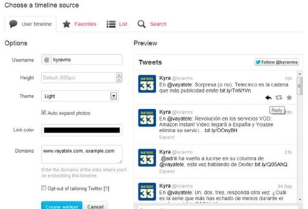 Twitter rediseña su widget para sitios web y lo hace interactivo