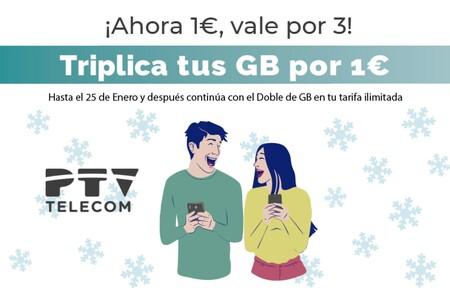 La promoción de navidad de PTV Telecom es para siempre: dos meses con el triple de gigas y luego te quedas con el doble