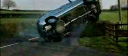 Espectacular accidente de tráfico