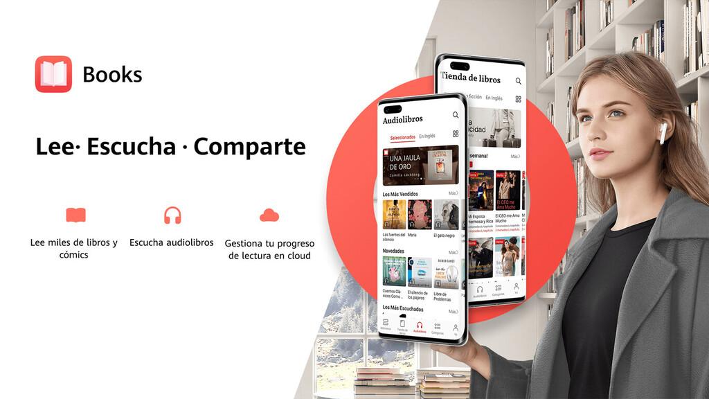 Los audiolibros llegan a Huawei™ Libros: ya puedas escuchar cerca de 350 títulos