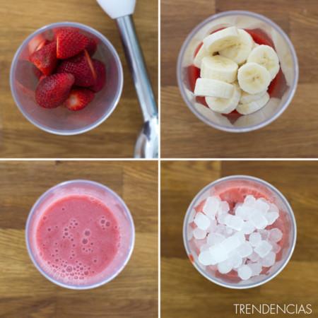 Cómo hacer un smoothie de fresa y plátano