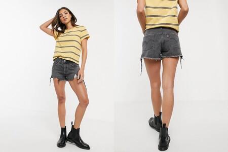 Levis Shorts 501 Grises