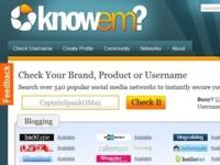 KnowEm comprueba la disponibilidad de tu nombre de usuario en más de 300 webs sociales