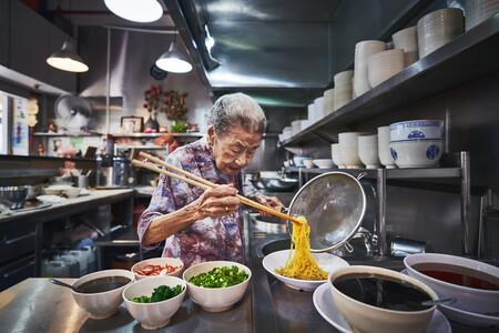 Puestos Comida Singapur Patrimonio Humanidad