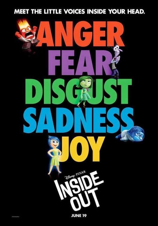 'Del revés' ('Inside Out'), carteles
