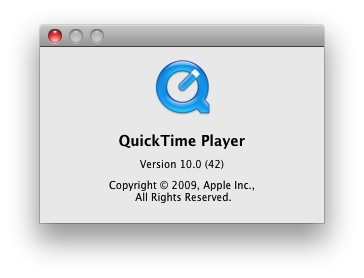 apple macosx snow leopard quicktimex