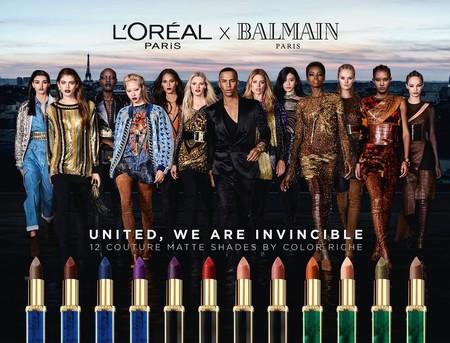 En la campaña Balmain x L'Oréal no ha faltado nadie: top models de todas las razas lucen sus labiales