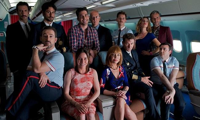 Los protagonistas de 'Los amantes pasajeros'