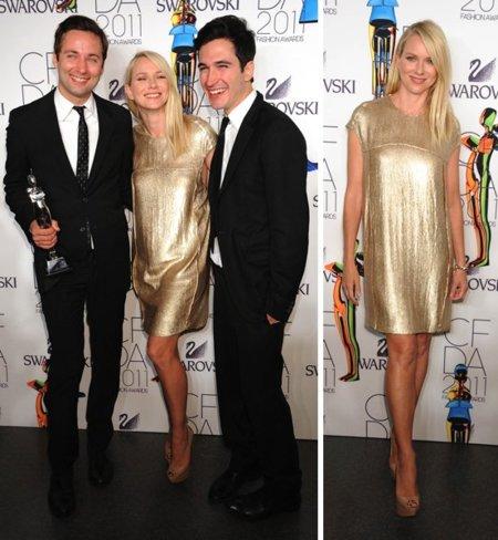 Naomi Watts premios CFDA 2011