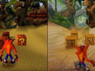 Crash Bandicoot: compara el aspecto del clásico y la versión de PS4