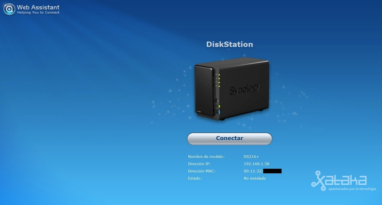 Instalación del software Synology DiskStatio DS216+