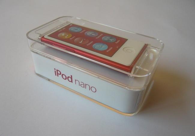 iPod nano 2012 caja portada
