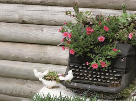 Una vieja máquina de escribir