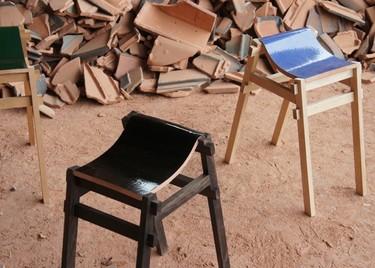 Recicladecoración: taburetes hechos con viejas tejas