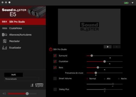 Aplicación de Sound Blaster