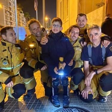 """""""Quiero ser bombero para ayudar como vosotros"""", la emotiva carta de un niño con una enfermedad rara a los bomberos de Palma"""