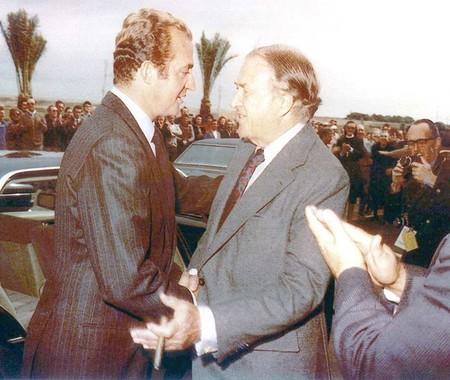 Juan Carlos I y Henry Ford II