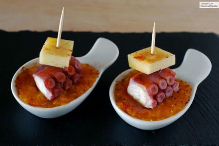 Pincho de pulpo y queso San Simón con calabaza: receta de aperitivo fácil y resultón