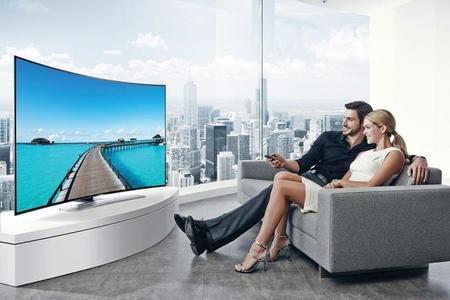 Salon Tv Curvo disfrutar del televisor